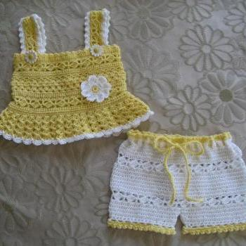 Daisy Tank & Short Set Crochet Pattern PDF12-023