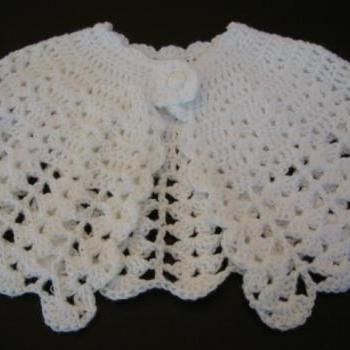 Lacy Cape Crochet Pattern PDF 12-040